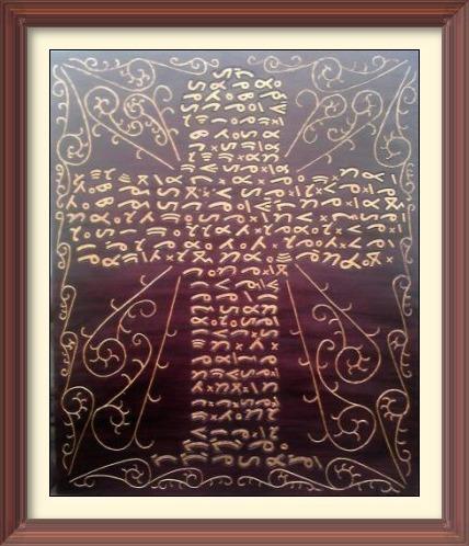 Tangiang Ale Amanami dalam aksara batak